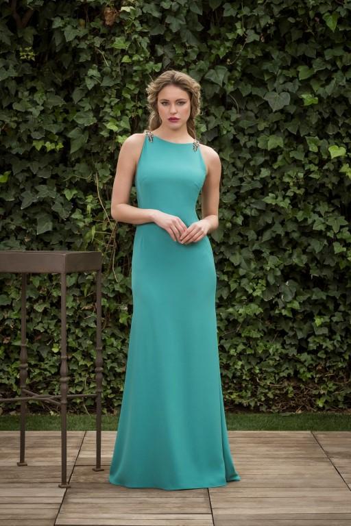 Vestido verde agua corto 2019