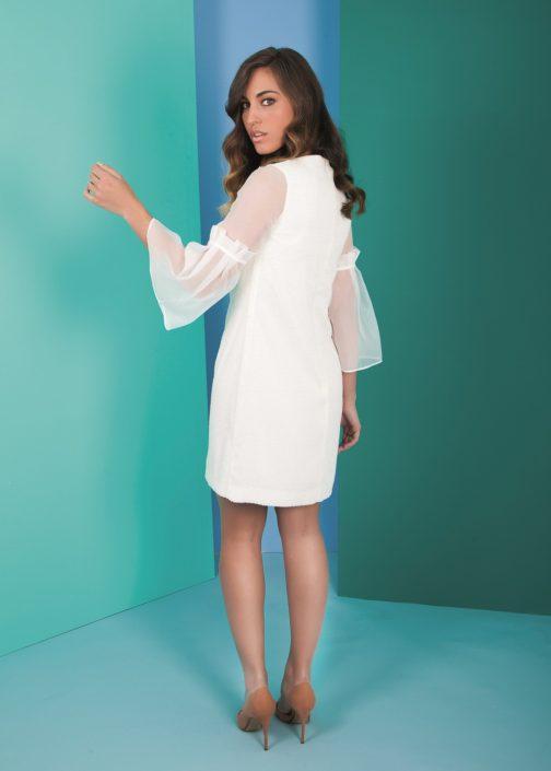 vestido blanco corto fiesta