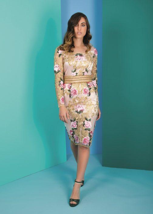 vestido corto recto