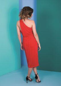 vestido corto rojo cóctel