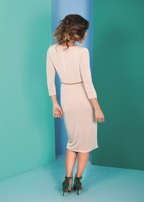 vestido punto manga larga