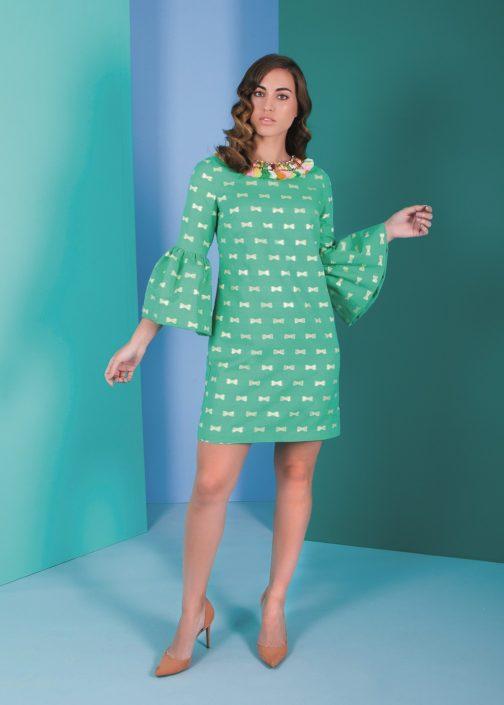vestido verde corto fiesta