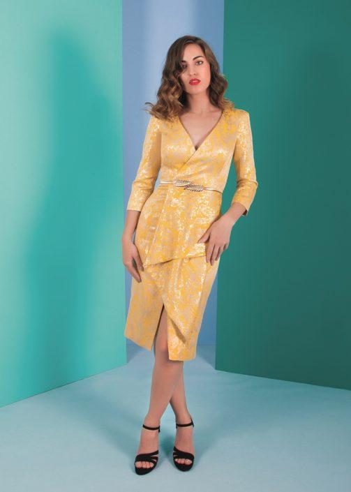 vestidos amarillos para boda