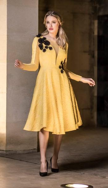 Vestido Amarillo fiesta