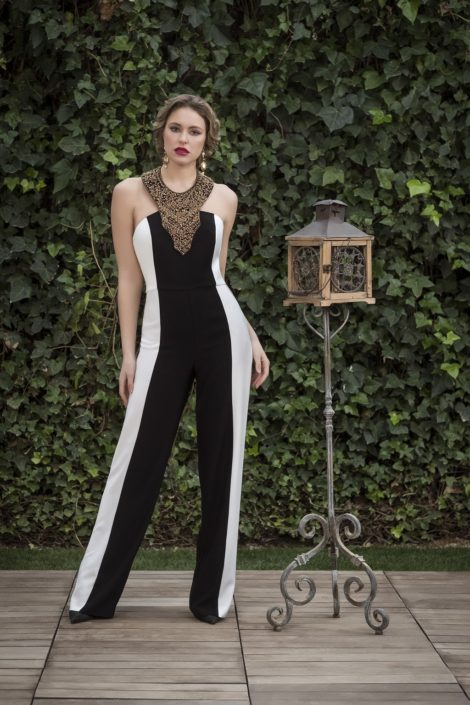 vestido largo cocktail
