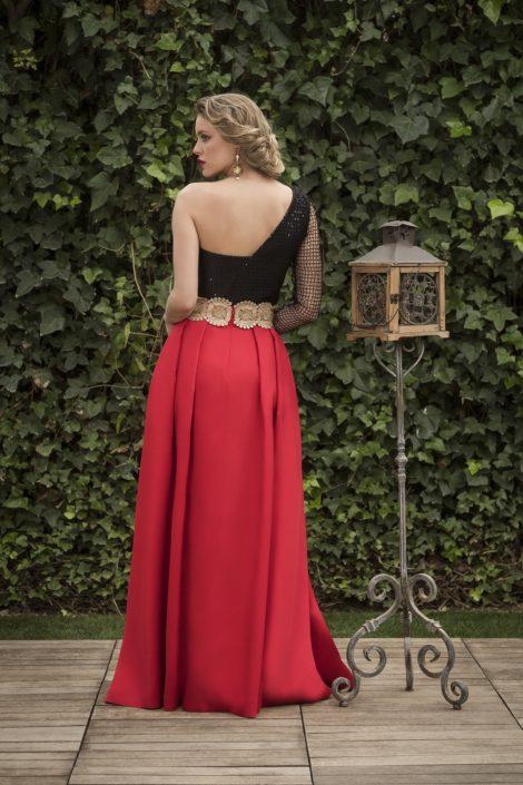 falda roja larga