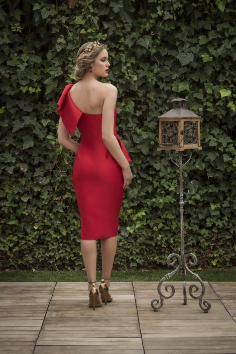 vestido corto cocktail rojo