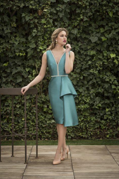 vestido corto elegante