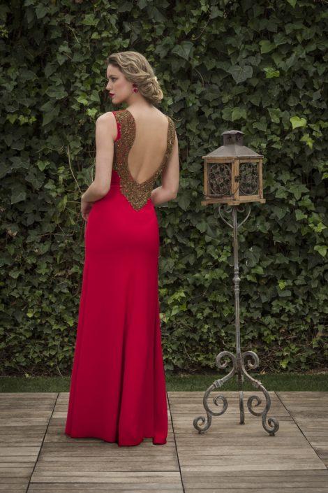 vestido largo detalle espalda