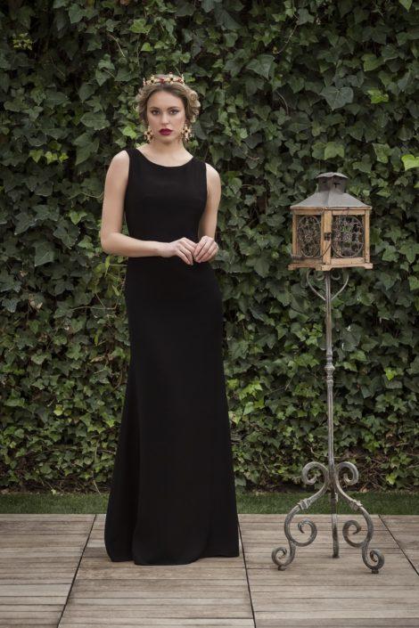 vestido largo negro fiesta