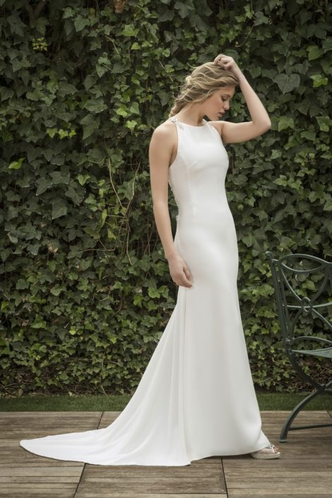vestido novia con cola