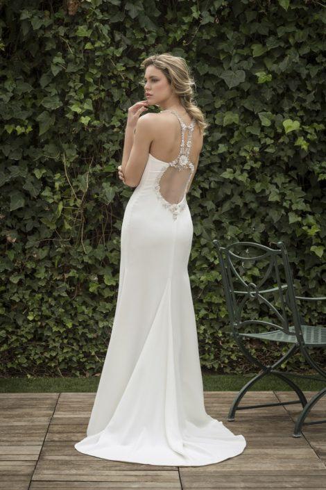 vestido novia escote espalda
