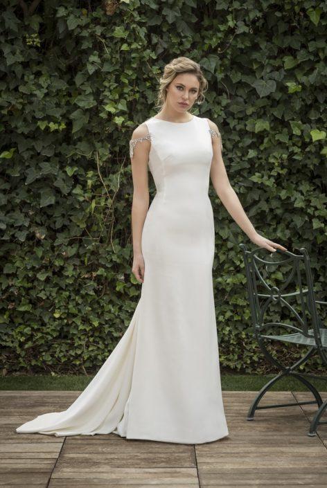 vestido novia piedra espalda