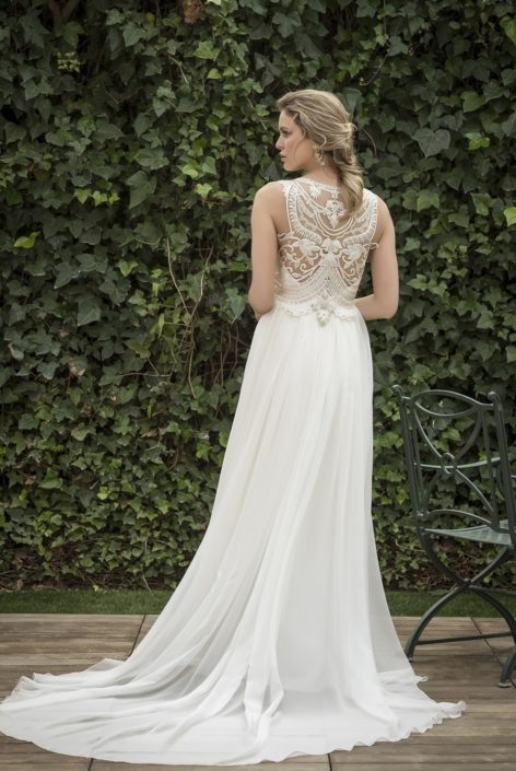 vestido novia romántico