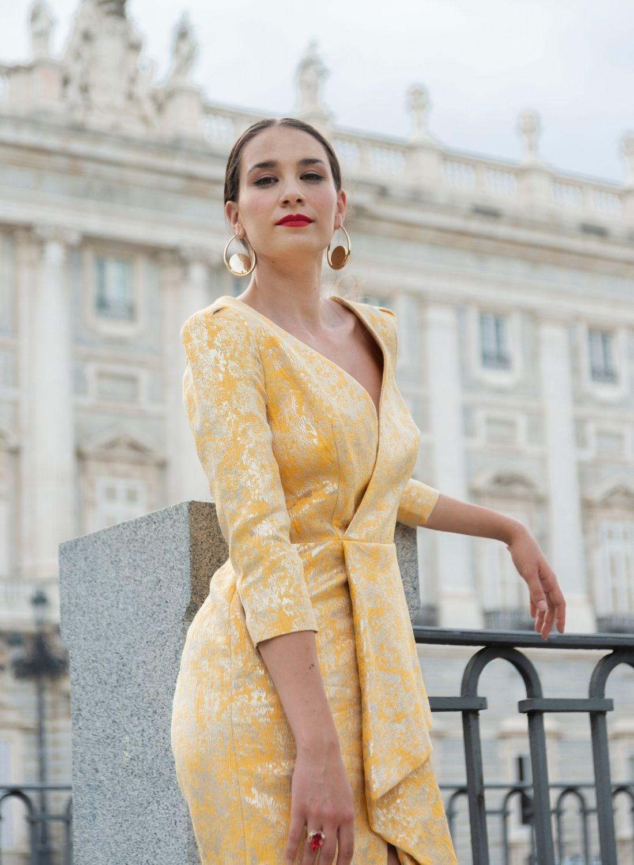 vestido corto cóctel estampado