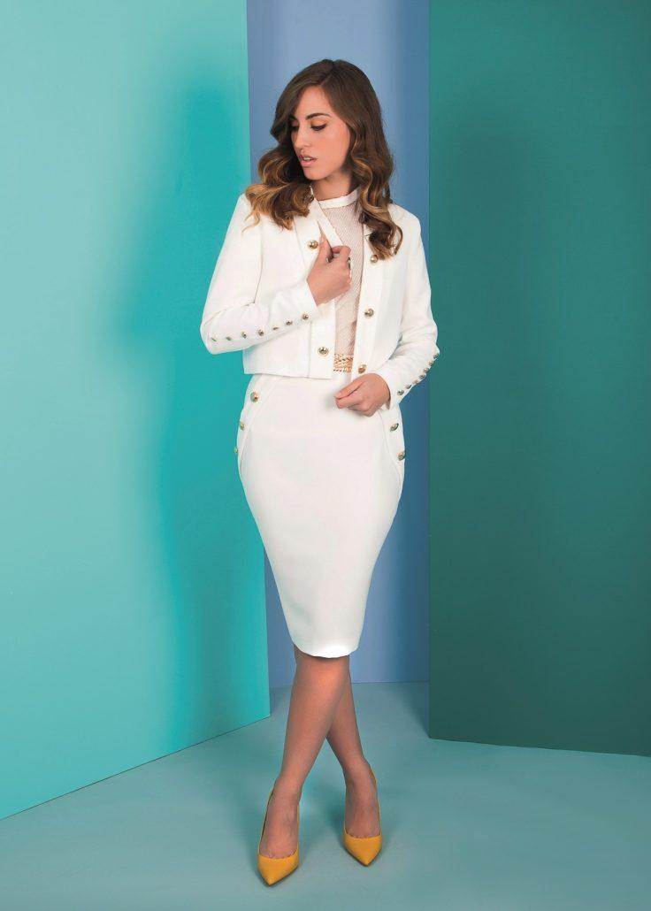 vestido blanco para evento de día