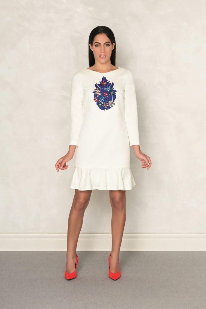 vestido mamá de comunión blanco