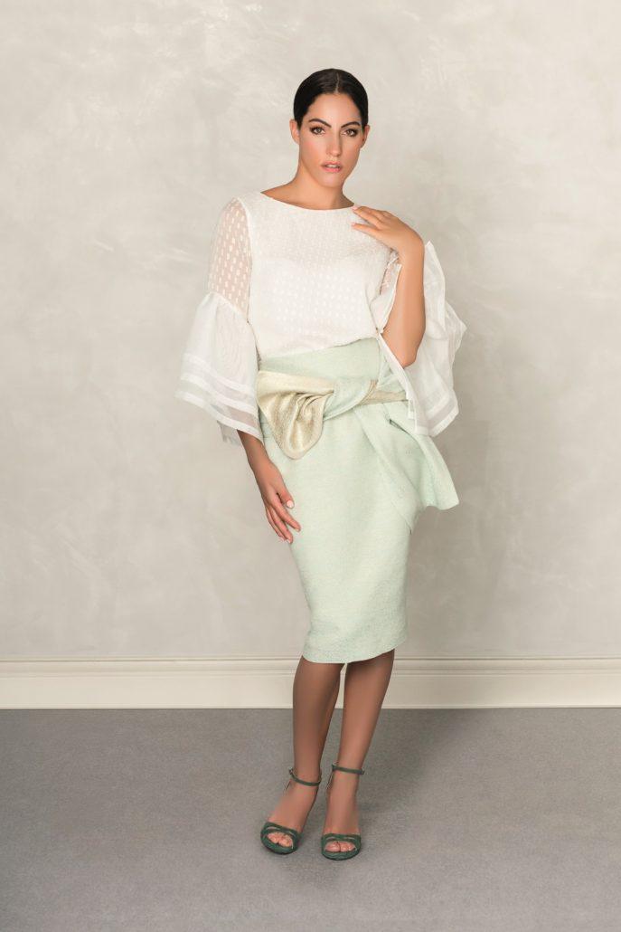 conjunto de top y falda para comunión