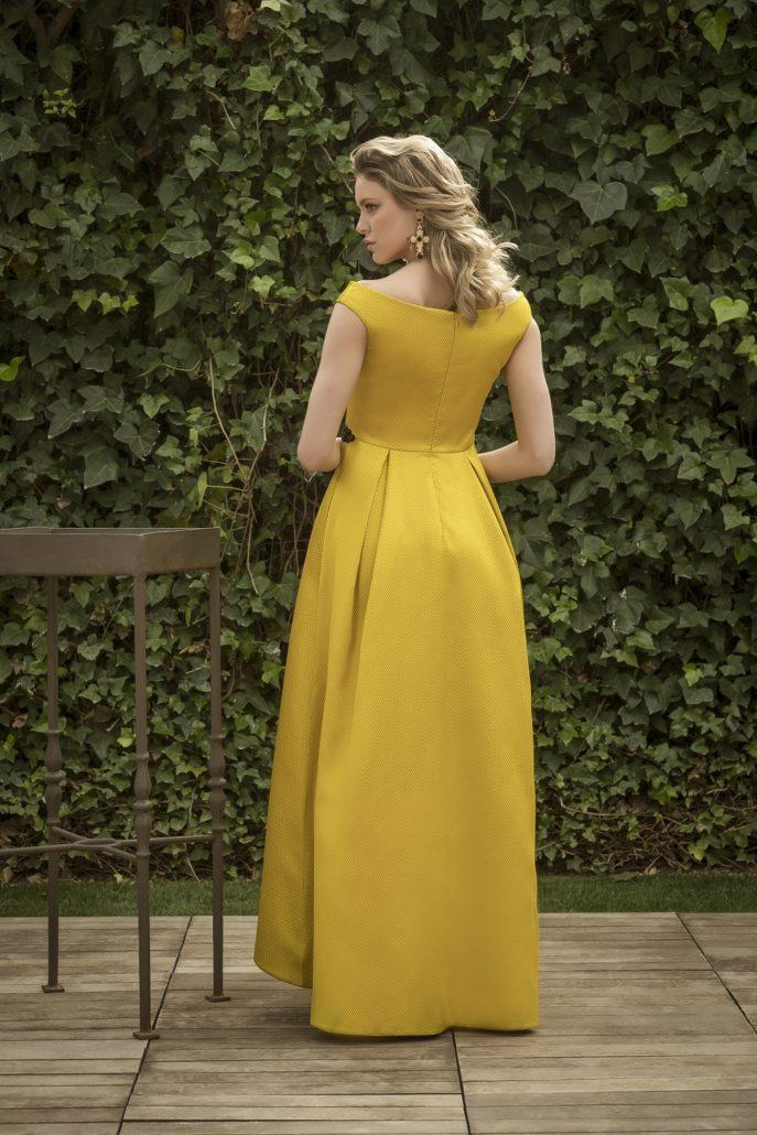 vestido amarillo largo para boda