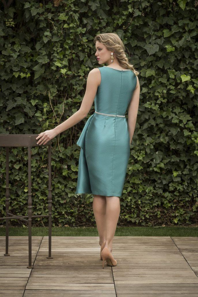 vestido azul corto boda de día