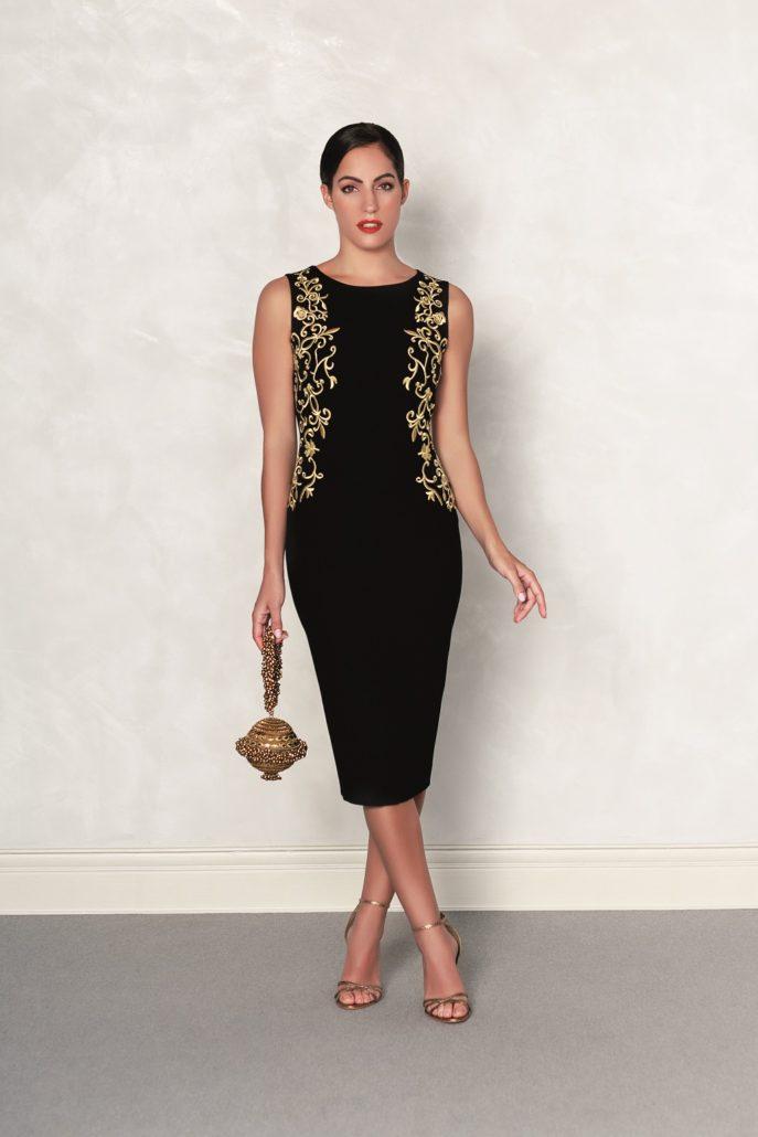 vestido corto negro de fiesta