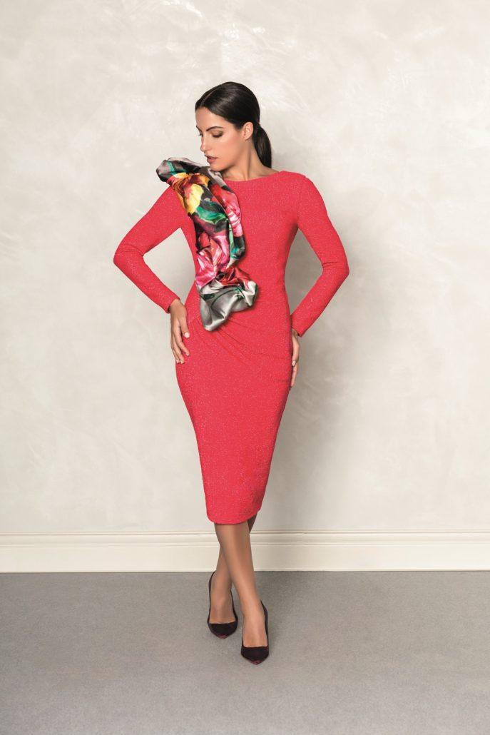vestido rojo mujer