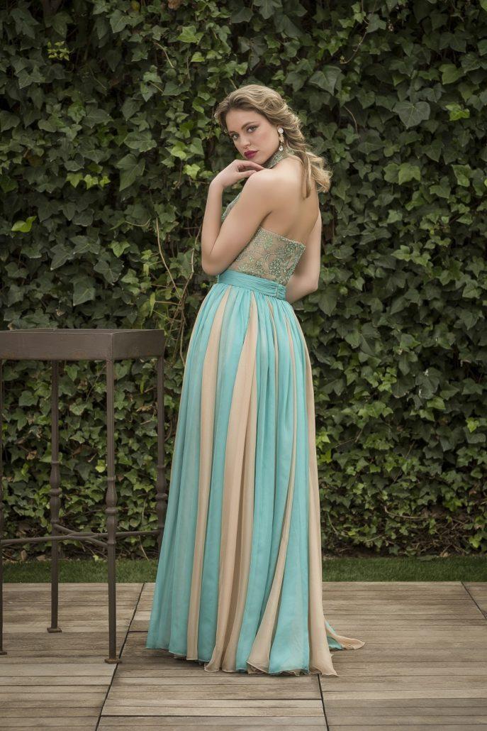 vestido invitada perfecta turquesa