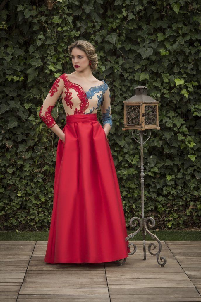 vestido largo rojo boda