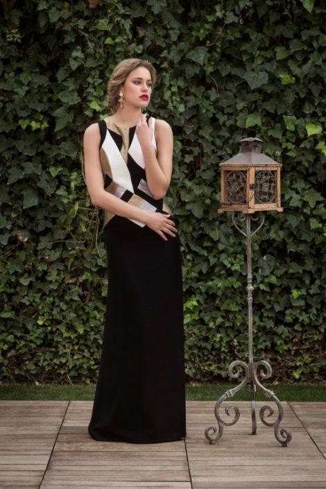 vestido negro largo fiesta
