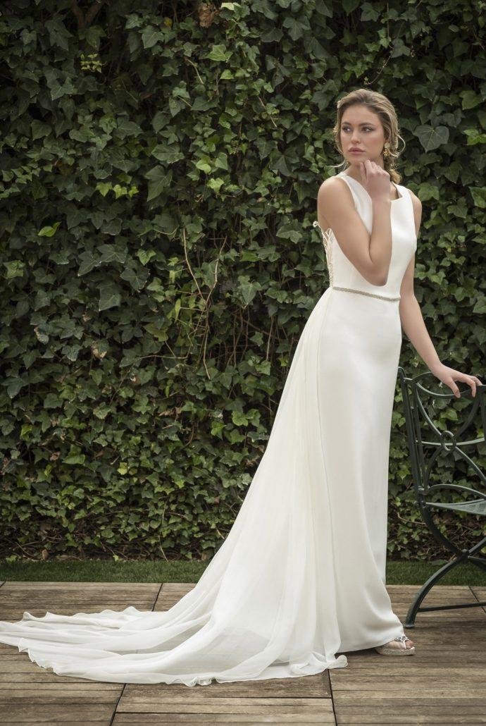 vestido novia cola