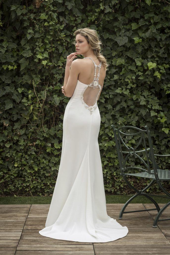 vestido de novia escote espalda