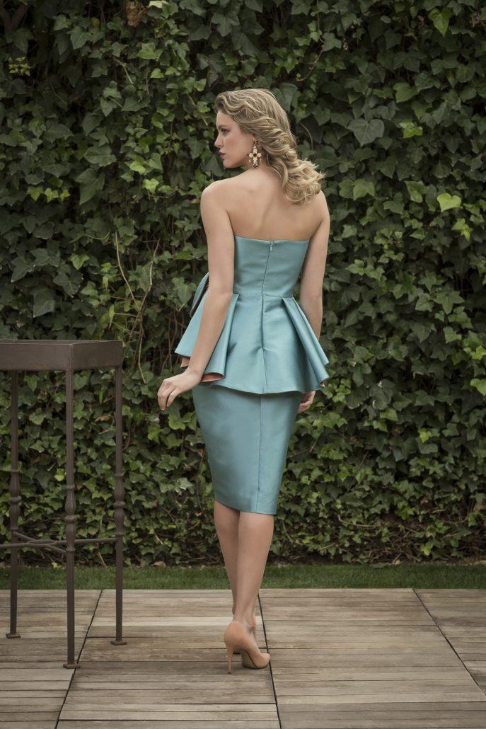 vestido de fiesta recto