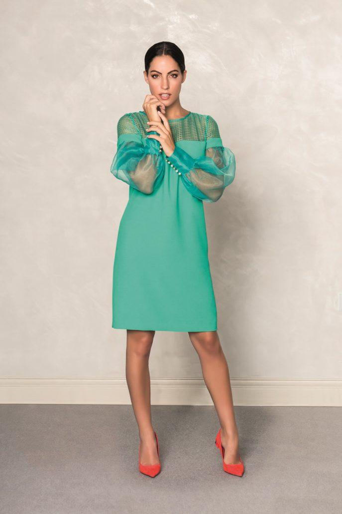 vestido mujer verde fiesta