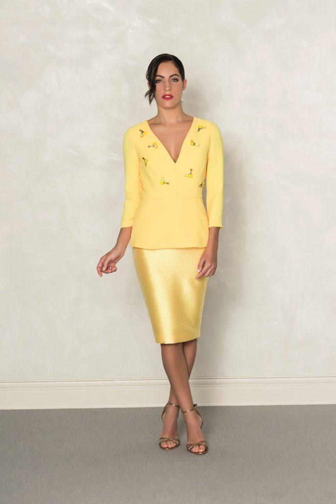 vestidos amarillos de vestir
