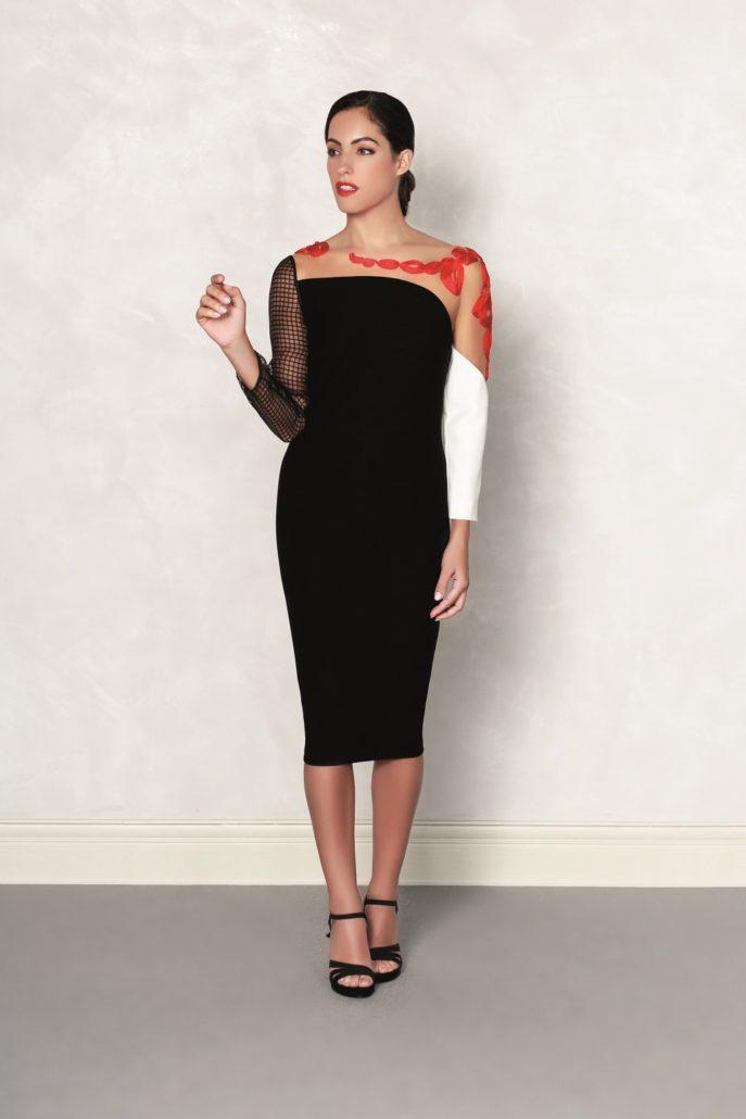 vestido elegante negro para mujer