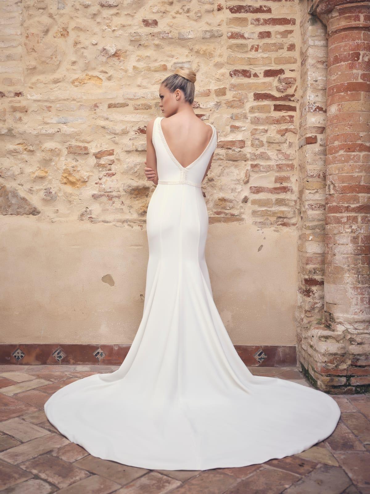 vestido de novia espalda en V