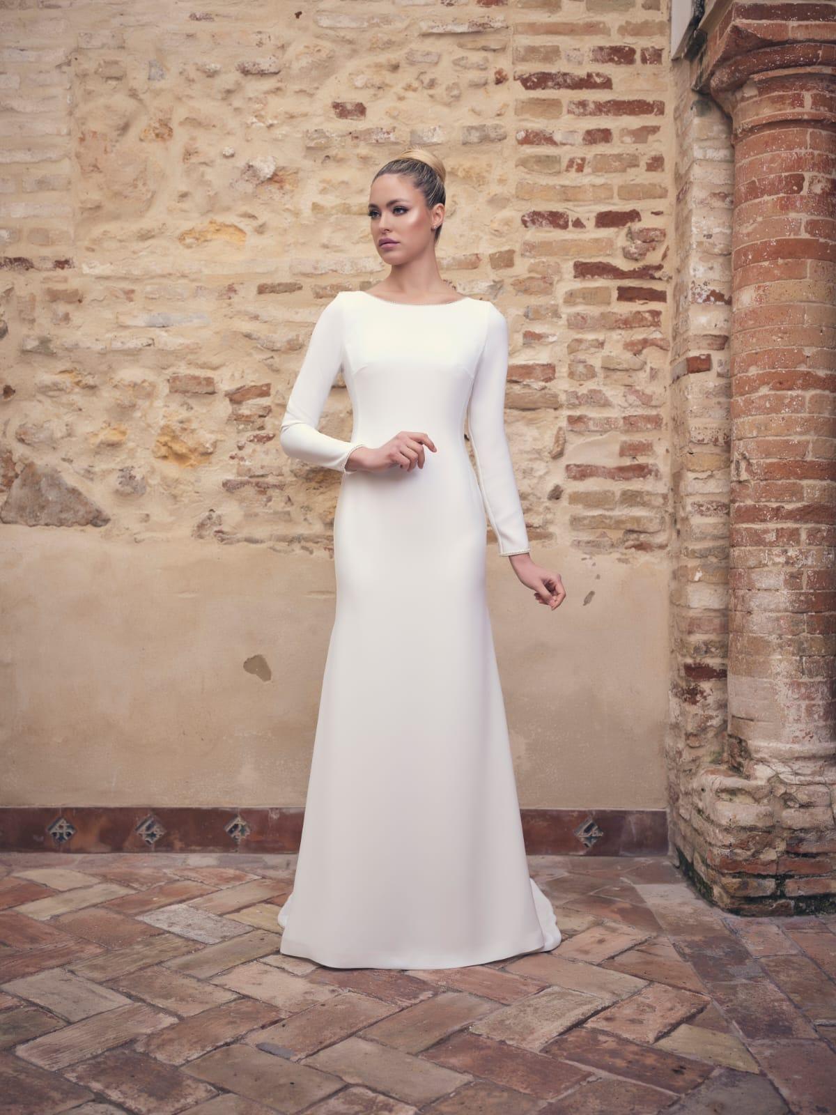 vestido de novia simples para ceremonia civil