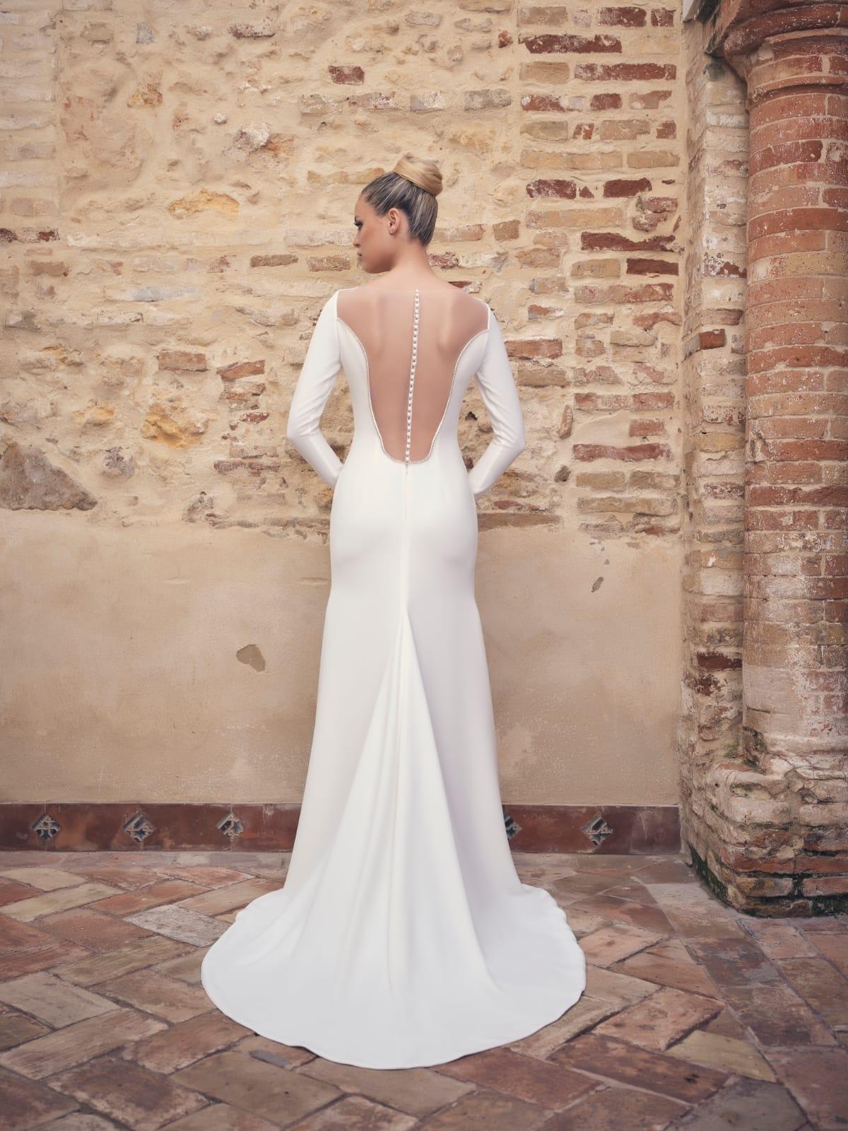 vestidos de novia 2020 espalda transparente
