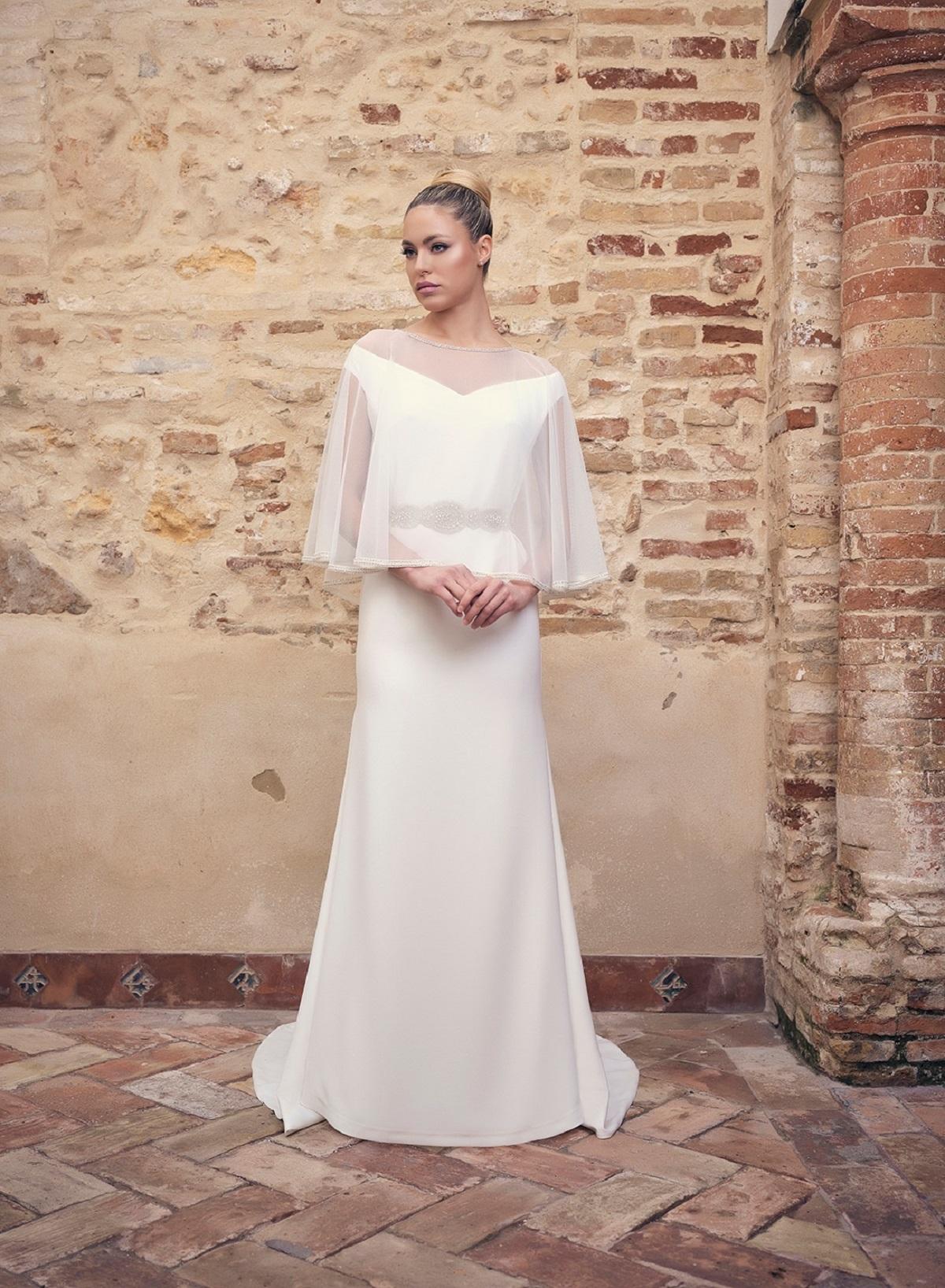 Chal vestido de novia blanco