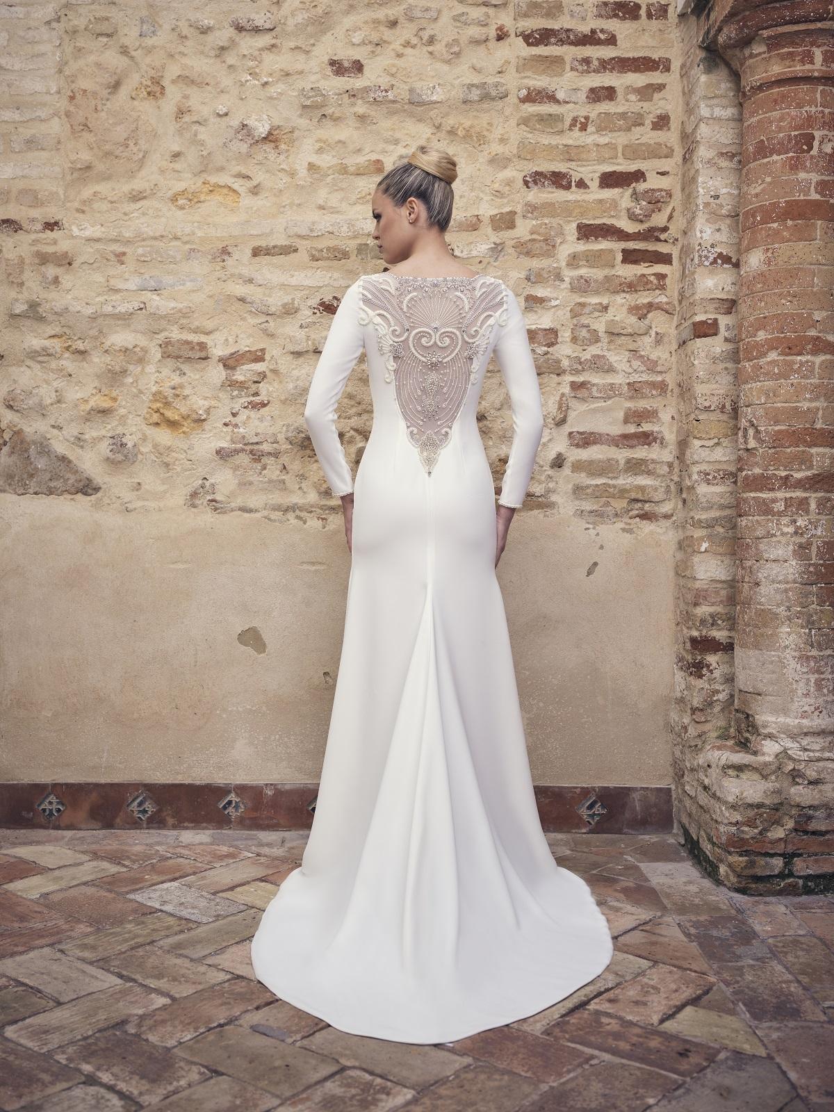Vestido de novia espalda v