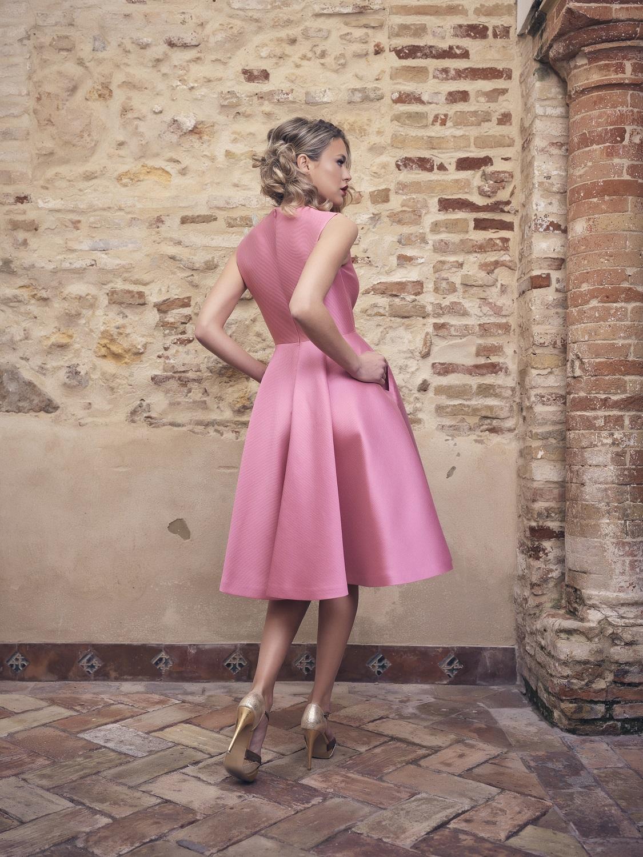 Vestido corto fiesta en rosa