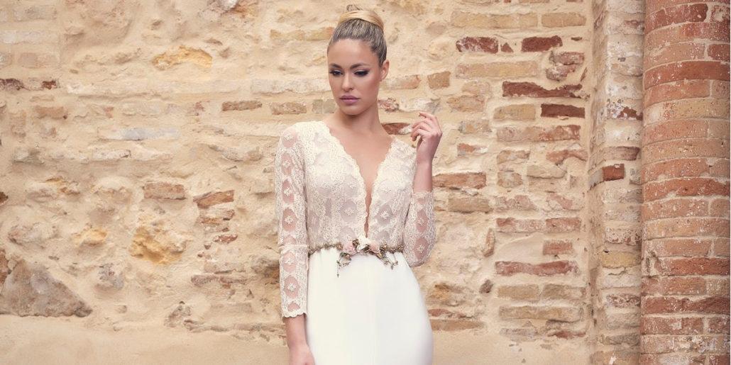Vestido de novia encajes