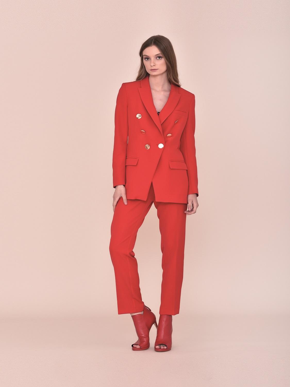 Chaqueta blazer roja de vestir