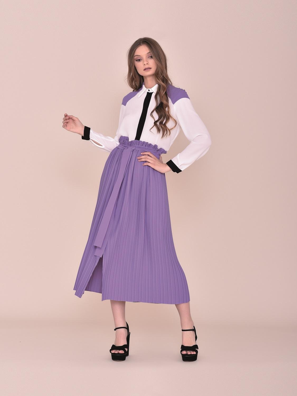 Conjunto comunión falda y camisa primavera