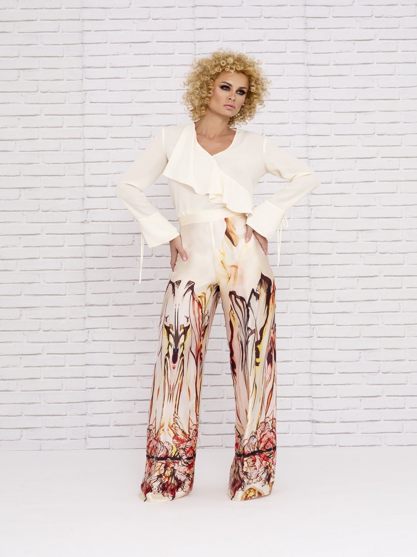 Conjunto de pantalón en tonos tierras 2020