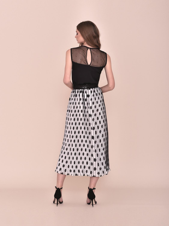 Conjunto falda larga en tonos negros 2020 verano