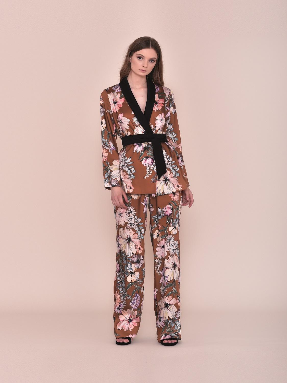 Nuribel Conjunto Fiesta Pantalon Y Kimono Nuribel