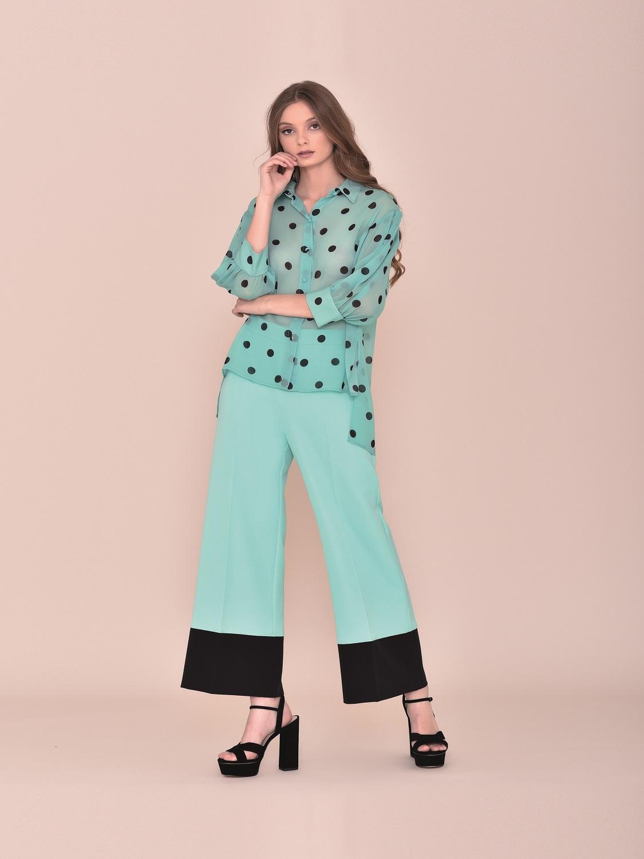 Conjunto pantalón ancho con camisa amplia comunión 2020