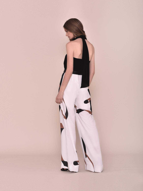 Conjunto pantalón blanco y negro fiesta 2020