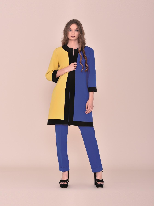 Conjunto pantalón con levita tricolor tipo retro verano
